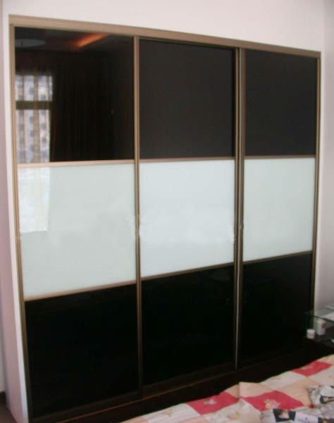 Black Classic Painted Glass for decorative