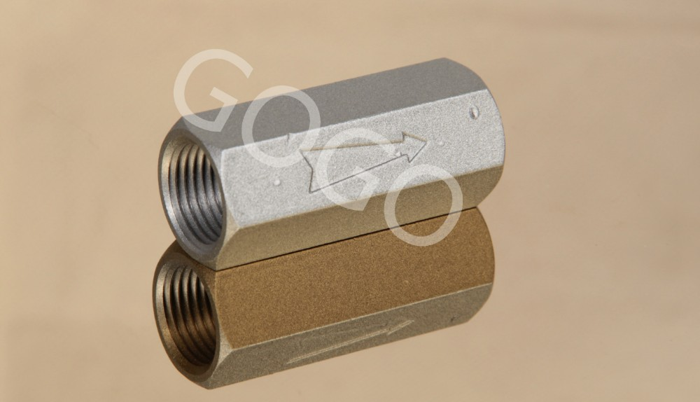 aluminum or stainless steel or plastic pneumatic check valve 1/8 mini air non return