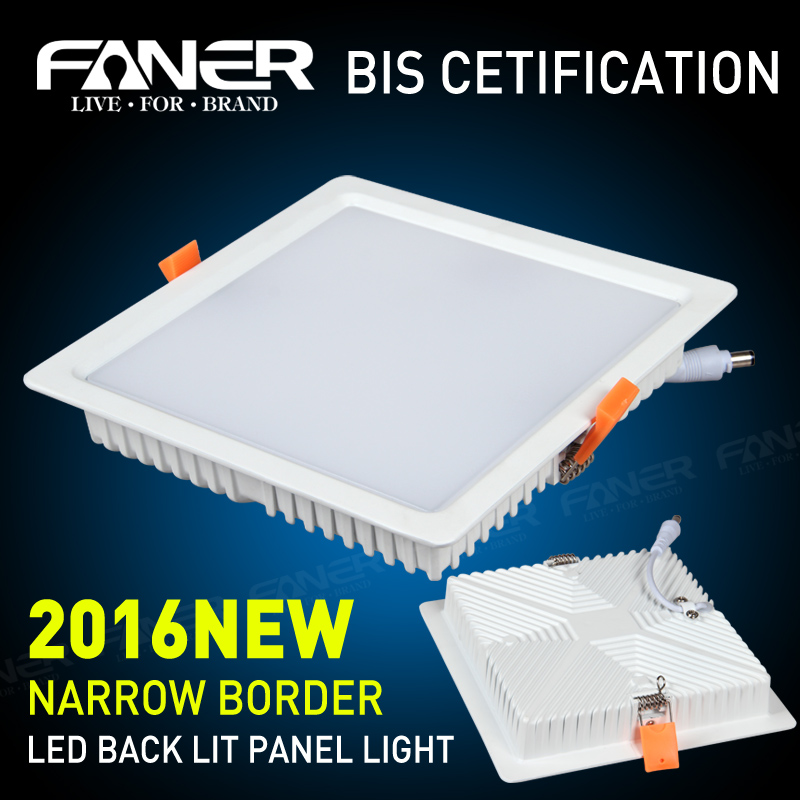 India Market LED back light panel BIS approved led panel light housing