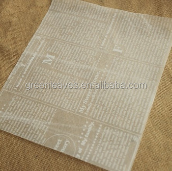 wax paper for baking You could use waxed paper when a recipe calls for parchment paper sometimes parchment paper is used interchably with baking release paper.