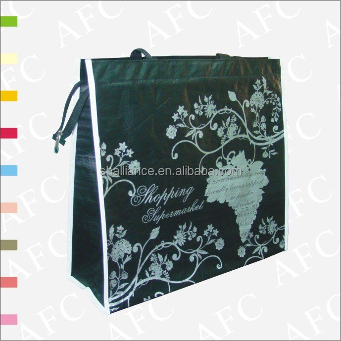 China Factory Wholesale Promotional Custom Colorful Printing Shopping Tote Bopp Laminated PP Woven Bag