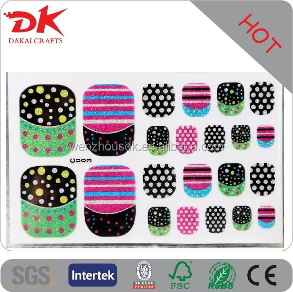 cheap toe nail sticker in bulk,14k nail sticker,gel nail sticker