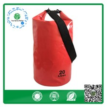 Customized High quality PVC tarpaulin 20L Waterproof Dry Bag with single strap
