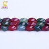 Awesome twisted rhombic tourmaline beads strings 16*9mm semi precious stone beads
