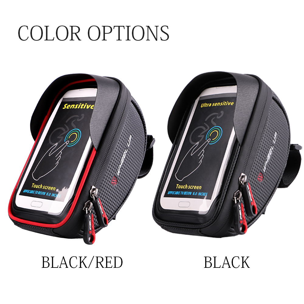 WHEEL UP Waterproof Bike Handlebar Bag Bicycle Front Tube Frame Phone Holder