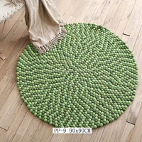 High quality fashion design felt backing rugs for home decorations