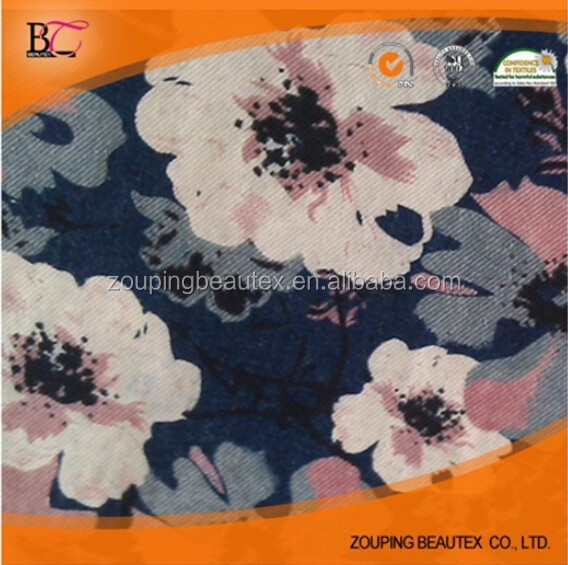 Manufacturers selling hot color printed denim fabrics printed denim fashion beautiful rich color version