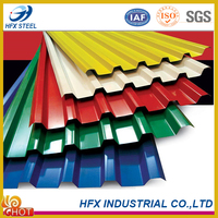 Practical Colored Corrugated Steel Roofing Tiles with High Quality