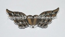 Heart wing jewelry accessories for necklace beadding