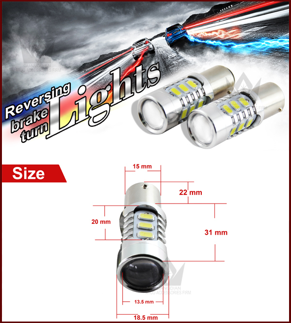 Lightpoint New design highpower highbright 1156 5730 15smd Car Led Brake turn Bulbwith lens auto led light