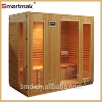 smartmak SMT-011DHT 2015 hot sale modern design wood indoor traditional steam Sauna room