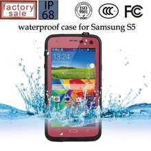 For Samsung Galaxy S5 waterproof metal gorilla glass case, hot new products for 2015
