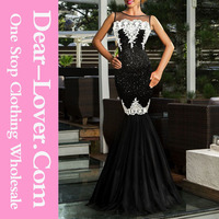 Customized 2015 Mermaid black sexy new long party evening dresses