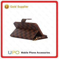 [UPO] For Iphone 6 Wallet Leather Case, Book Style Flip Lattice Leather Case Cover for Iphone 6