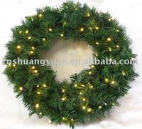 lighted outdoor christmas wreaths