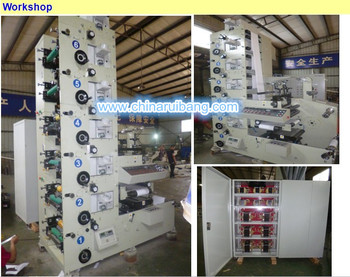 RY-320-6 color with UV dry system Flexographic Printing Machine from manufacture