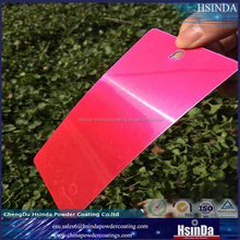 New High Gloss Candy Pink Transparent Powder Coating