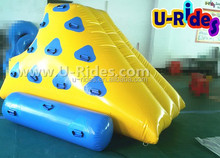 yellow inflatable Water Rock Climbing Wall for Seashore