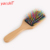 Yaeshii 2019 New Design Styling antistatic wooden rainbow safe paddle Hair Brush for adults and kids