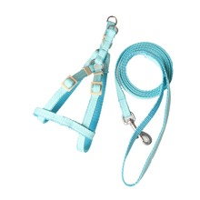 New style wholesale nylon adjustable safety pet dog harness with easy walk chain leash