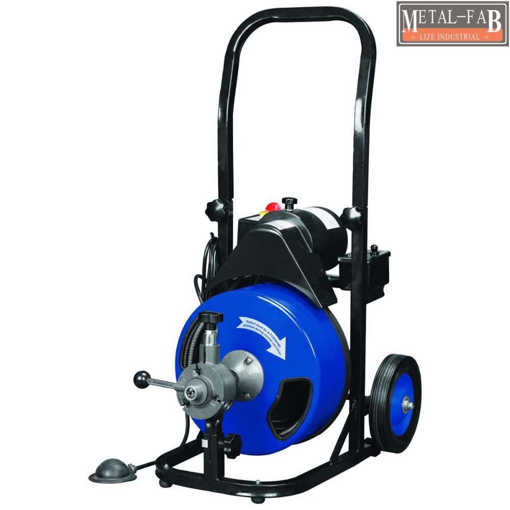 "50Ft <strong>1</strong>/2"" Cable 330 drum auto feed electric drain auger cleaner with cutter"