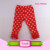 Boutique red stripe 100% cotton tight triple icing ruffle legging baby icing ruffle pants
