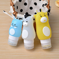 Cartoon shaped silicone travel size bottles leak proof travel bottles