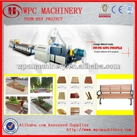 PP/PE/PVC WPC wood plastic decking machine on low price