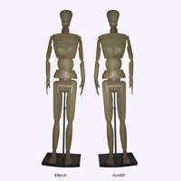 New design articulated adjustable basswood wooden full size female mannequin display