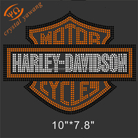 custom wholesale motor cycles rhinestone heat transfer designs