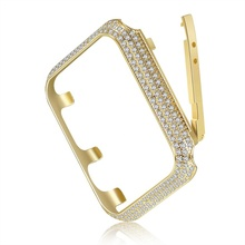 Wow. Luxury Metal Stainless Steel with diamond Watch <strong>Case</strong> For Apple Watch Frame Cover <strong>Case</strong> For Apple Watch