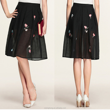 Girls skirt organza Embroidery A line black skirt