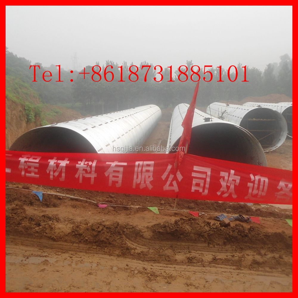 galvanized steel oil and gas pipe steel tunnel liner plates manufacture Many kind profile road steel culvert