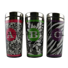 new fashion bpa free double wall plastic insulated coffee mug with paper insert