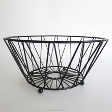 Jiangmen Factory Fashion Design Storage Metal Wire Fruit Basket hanging wire fruit basket