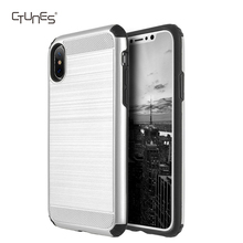 Hybrid Heavy Duty Anti Shock Soft TPU Bumper Cover Hard PC Protective Back Case For iPhone X