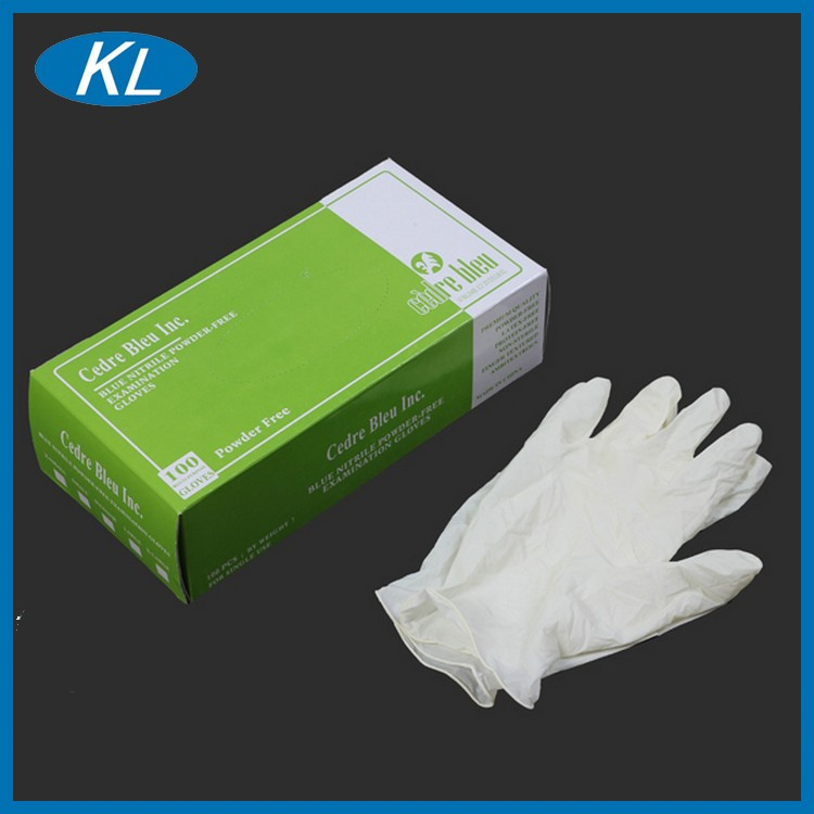 Soft and comfort powder free and powdered disposable latex gloves for health & medical