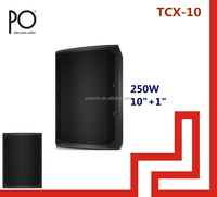 po audio tcx-10 turbosound 250w 10 inch pa speaker