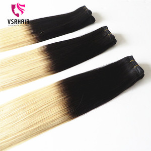 vsr hair high quality pure remy brazilian ombre hair weft virgin ombre hair extension