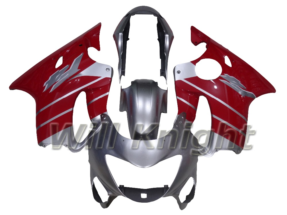 Plastic Injection Body Cover for Honda CBR 600 F4 1999 2000 Red Silver Fairing