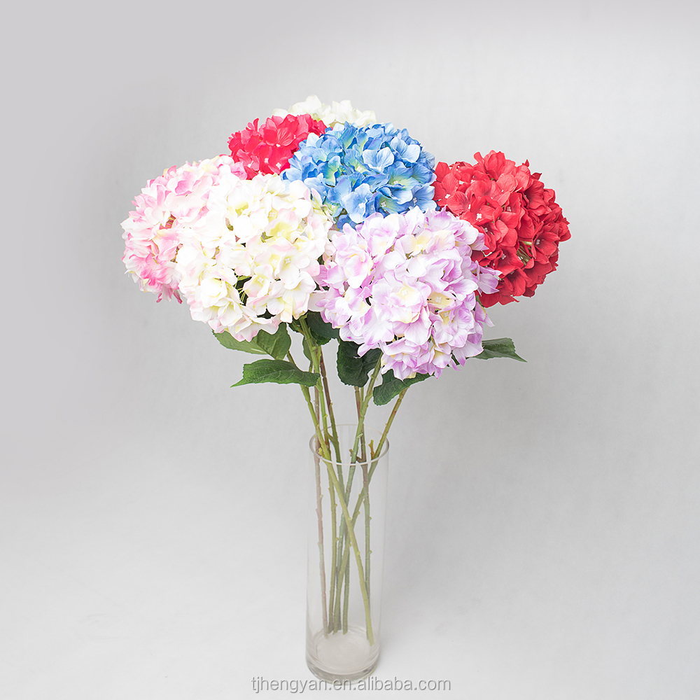 Artificial Flower Single Hydrangea Artificial Flower Single