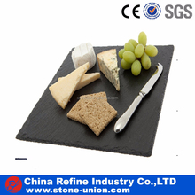 Black square plate food slate plate for dinnerware