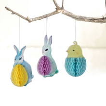Wholesale Easter Bunny And Eggs Rabbit Easter Hanging Decoration 2018