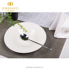 KJ series porcelain serving plates china manufacture round shape white ceramic soup plate