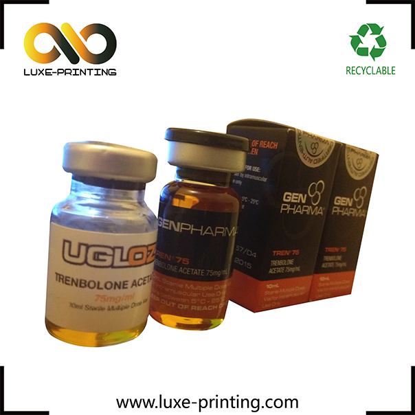 Strong adhesive custom injection liquor vial labels