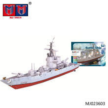 wholesale high quality fashion DIY 3D battle ship puzzle toys for kids