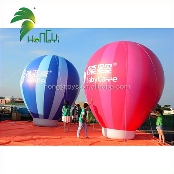 18ft Advertising Inflatable Ground Ball / Inflatable Hot Air Balloon