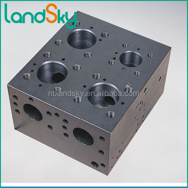 LandSky electric hydraulic manifold solenoid valve fittings manifold block