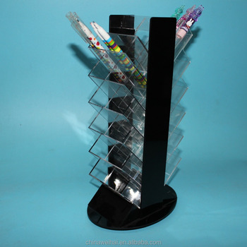 Countertop Rotating Acrylic Eyebrow Pencil Display Rack