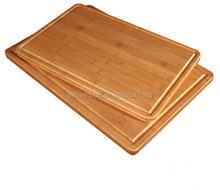 Eco-friendly Horizontal Simple and Nice Bamboo Cutting Board with Wide Strips